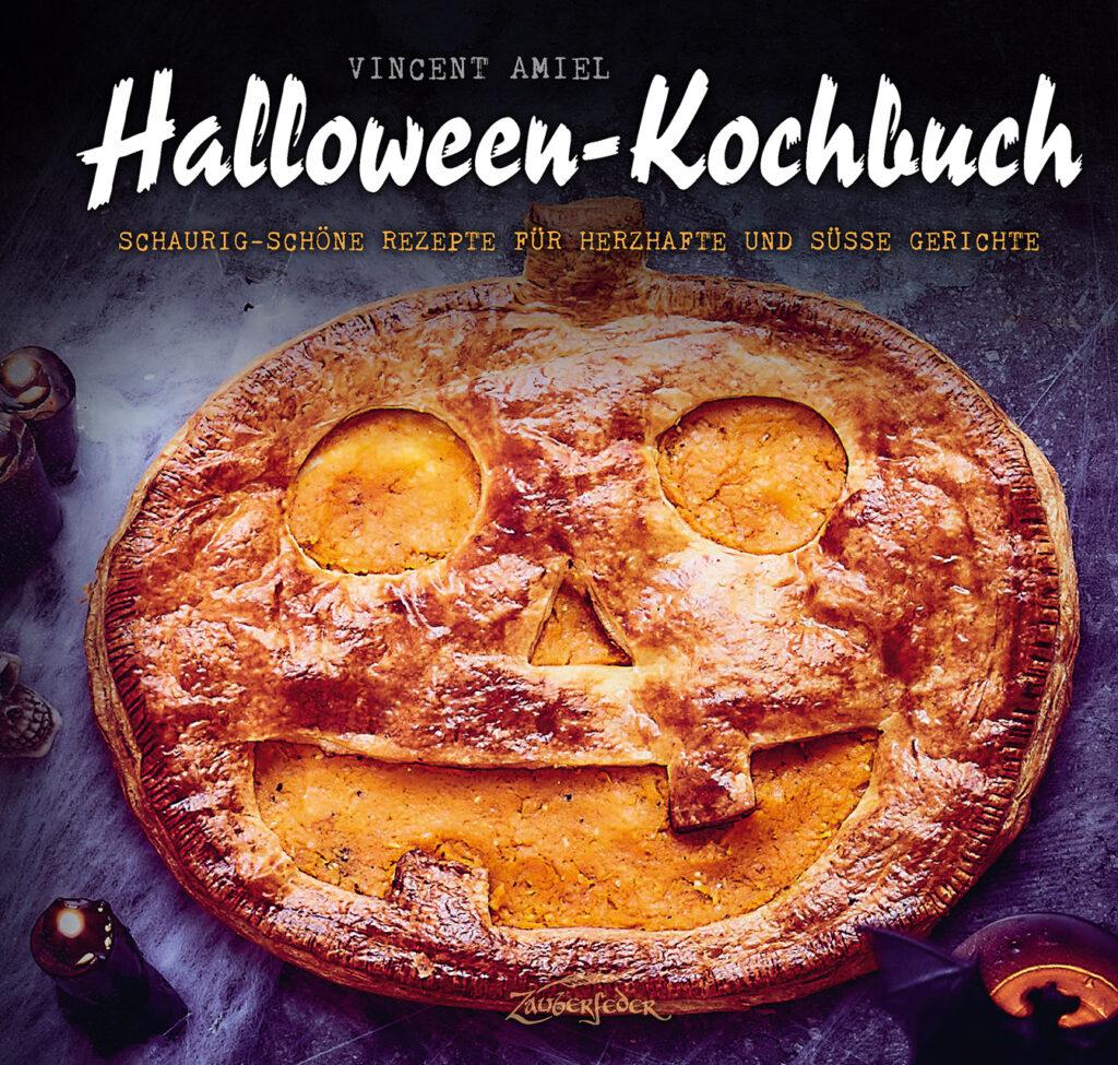 Cover des Halloween-Kochbuchs vom Verlag Zauberfeder