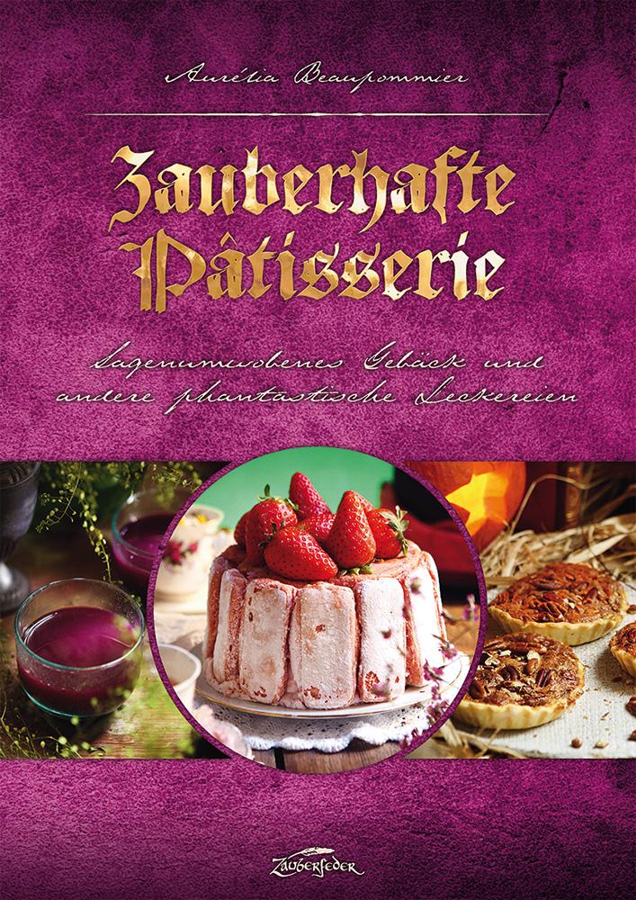 Pinkes Cover des Kochbuchs Zauberhafte Pâtisserie